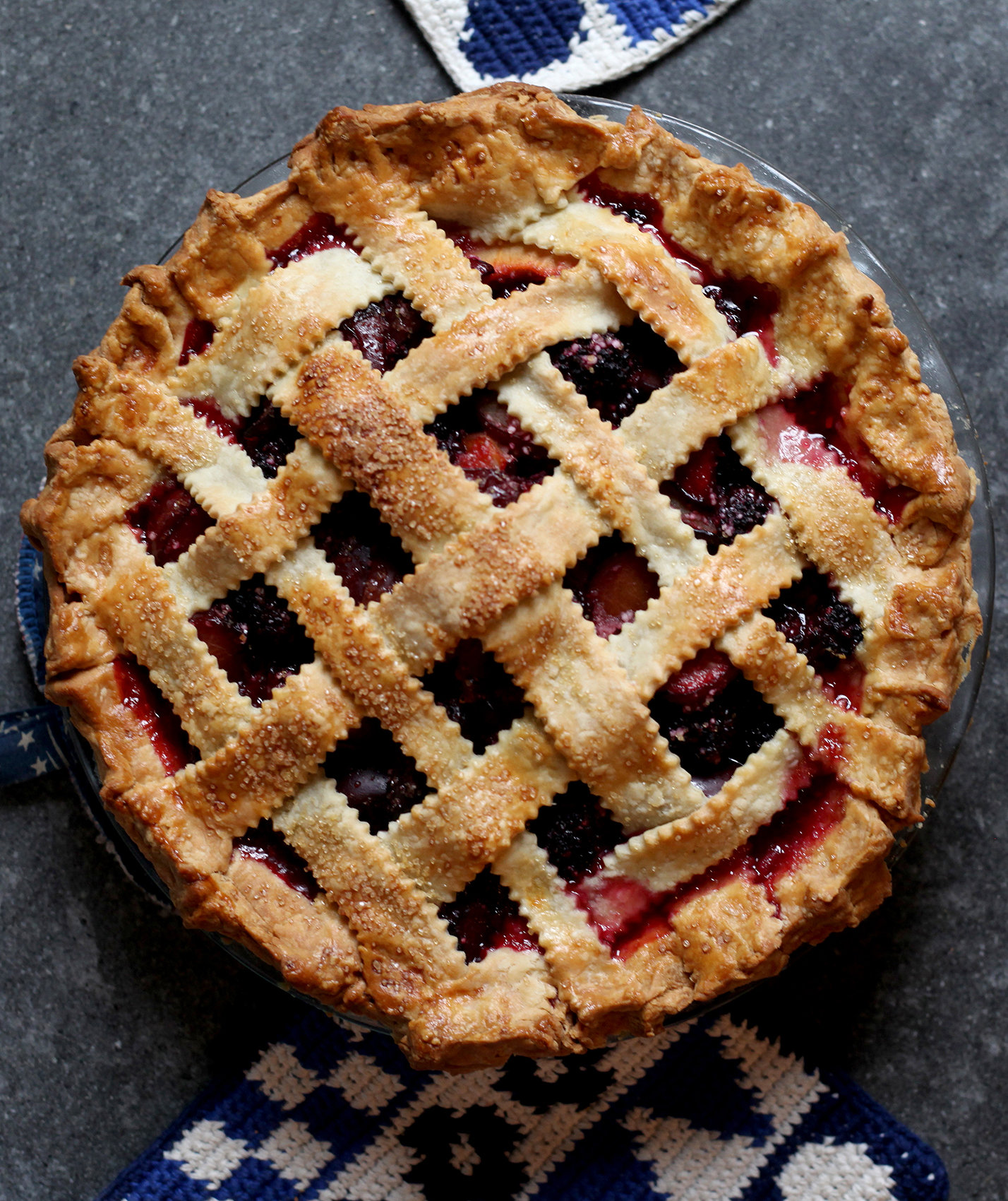 Plum and Blackberry Pie | Real Simple