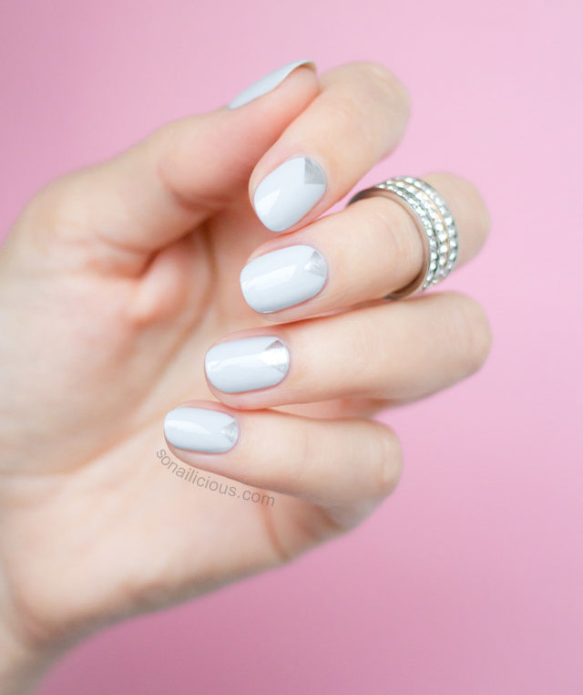 silver-grey-triangles-wedding-nails