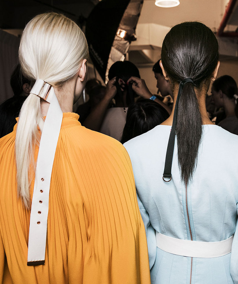 sleek-low-ponytail-new-york-fashion-week