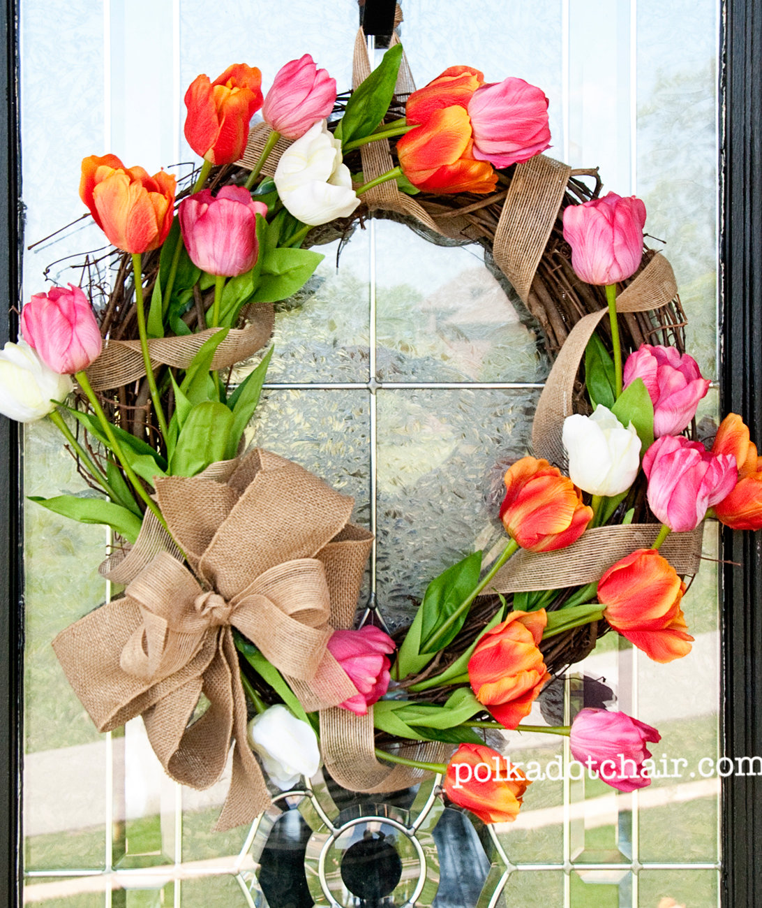 Tulip Wreath Spring Wreath Ideas Real Simple