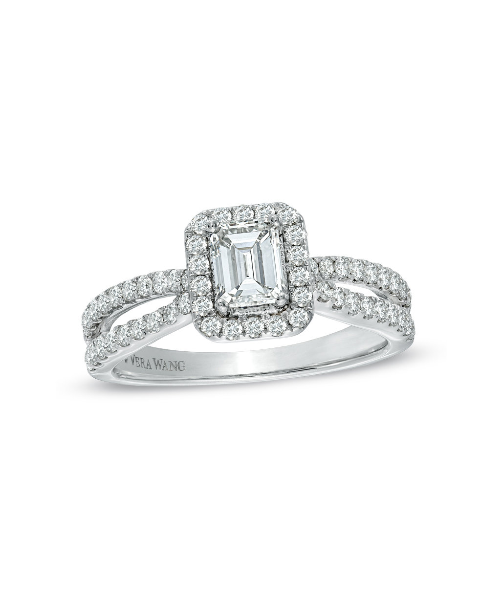 vera wang collection 1 t c w emerald cut