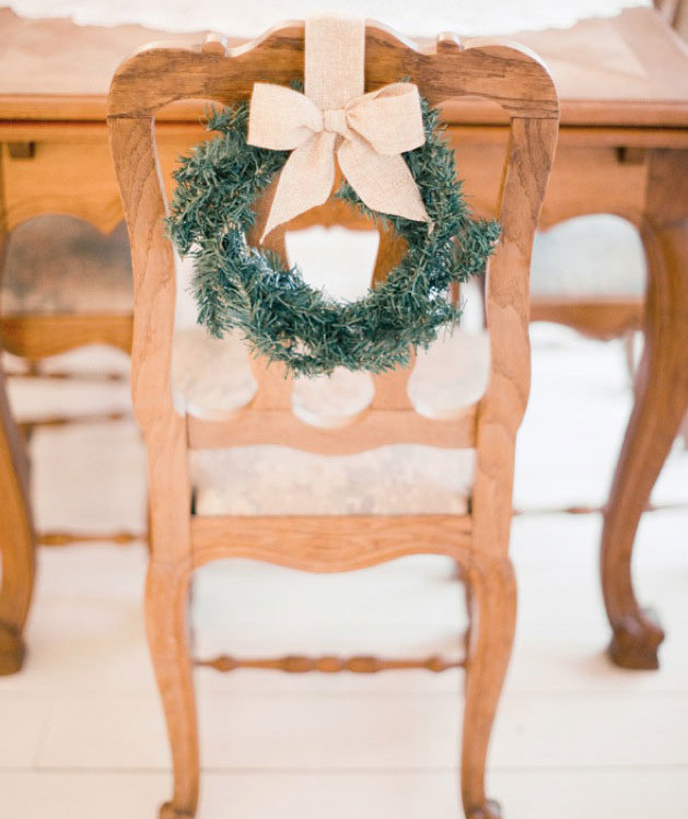 7 Ways to Decorate Your Dining Chairs for the Holidays ...