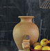 clay-pot-yellow-apples-chalk-board