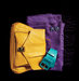 purple-scarf-yellow-purse