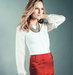 white-top-and-red-skirt