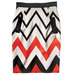 stretch-chevron-skirt-red