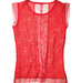 red-lace-polyester-top