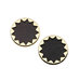 leather-gold-plate-star-earrings