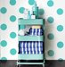 bathroom-cart-polka-dotted-wall
