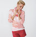 model-red-stripes-scarf-shorts