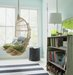 blue-bedroom-wicker-swing-striped-rug