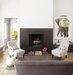 white-gray-black-living-fireplace-elephant-painting
