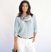 model-light-blue-blouse-scarf-cream-trousers