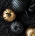 black-gold-spray-painted-pumpkins