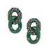 green-link-stud-earrings