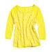 yellowcottont-shirtwithcrochetoverlay
