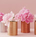 centerpiece-pink-peonies-spray-painted-cans