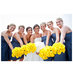 navy-dresses-yellow-bouquets