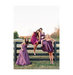 bridesmaids-sitting-wooden-fence