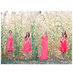 bridesmaids-wheat-field-coral-dresses
