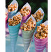 colorful-cones-caramel-popcorn-wedding-favors