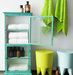 bathroom-bright-turquoise-cabinet