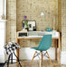 desk-turquoise-chair-letterpress-wallpaper