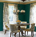 green-toile-dining-room