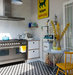 yellow-turquoise-kitchen