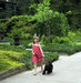 young-girl-walking-dog