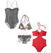 straight-figure-swimsuits-collage