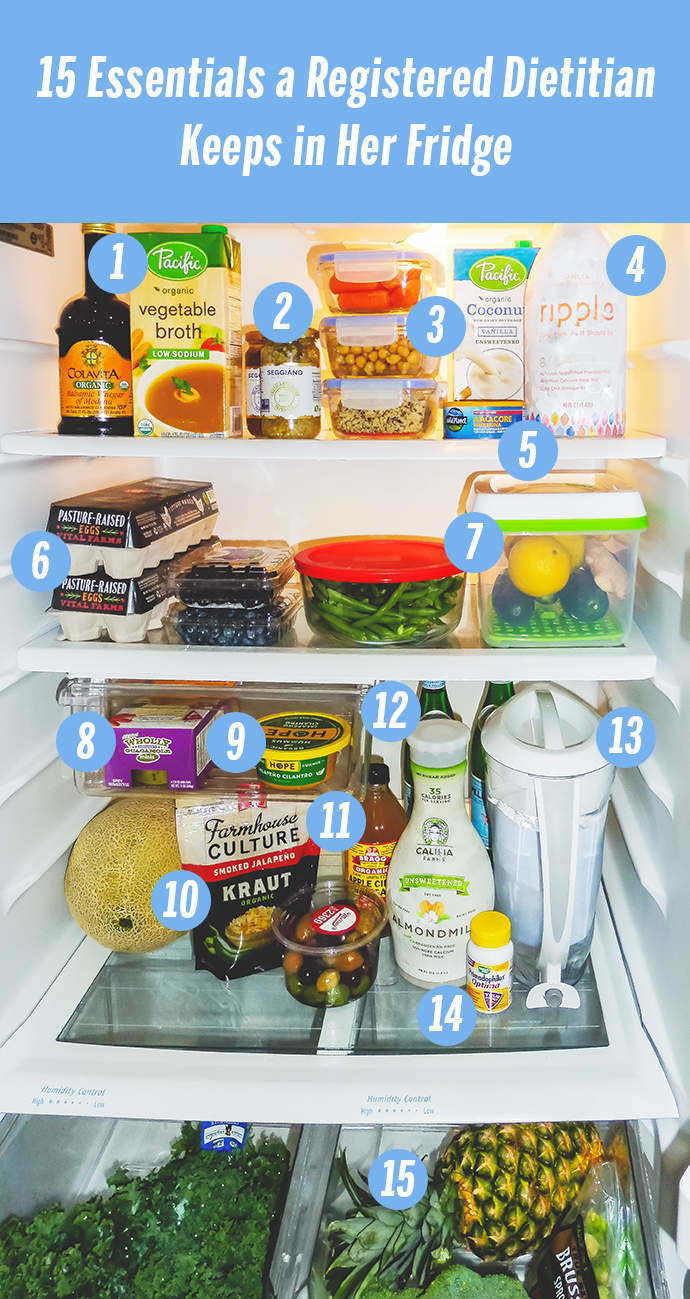 15 Foods a Nutritionist Always Keeps in Her Fridge