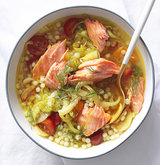 vegetable-soup-couscous-salmon