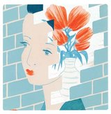 illustration-woman-flowers-brick